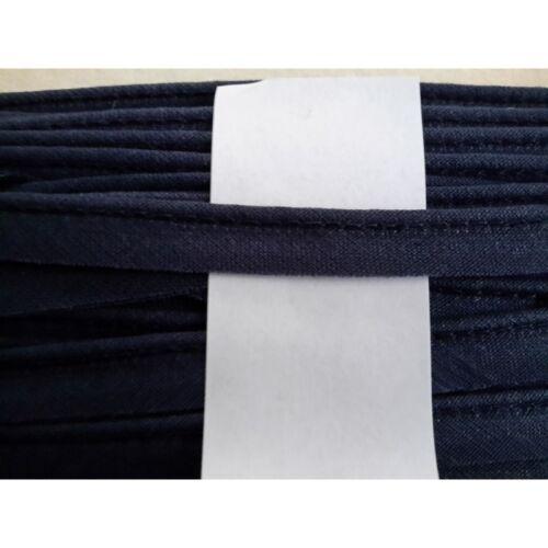 Metri 5 di Passamaneria in tessuto con bordo rialzato colore blu cm 1 7543