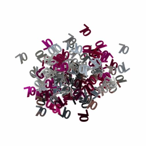 Silver 14g Anniversary Table Confetti Decoration 70th Birthday Party Pink
