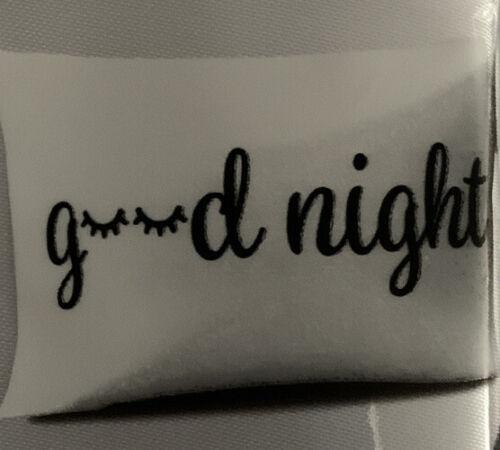 "1 Romantic Luxurious ""Good Night"" Soft Satin Standard Size Pillowcase"