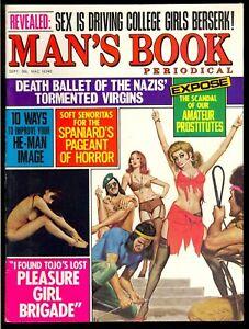 Man-039-s-Book-Pulp-Magazine-Vol-10-5-Sept-1971-Bondage-Fine-6-5