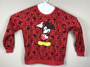 Disney Women's Mickey Mouse Icon Logo Sweatshirt Size XL Black Red