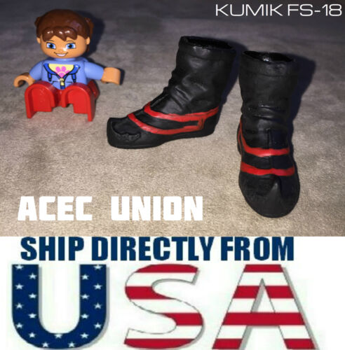 """SELLER KUMIK FS-18 1//6 Scale BLACK Ankle Boots For 12/"""" Male Figure U.S.A"""