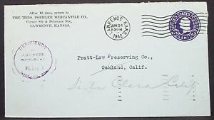 Mercantile-Advertising-Cover-Lawrence-Deficiency-Stamp-1942-GS-USA-Brief-H-11026