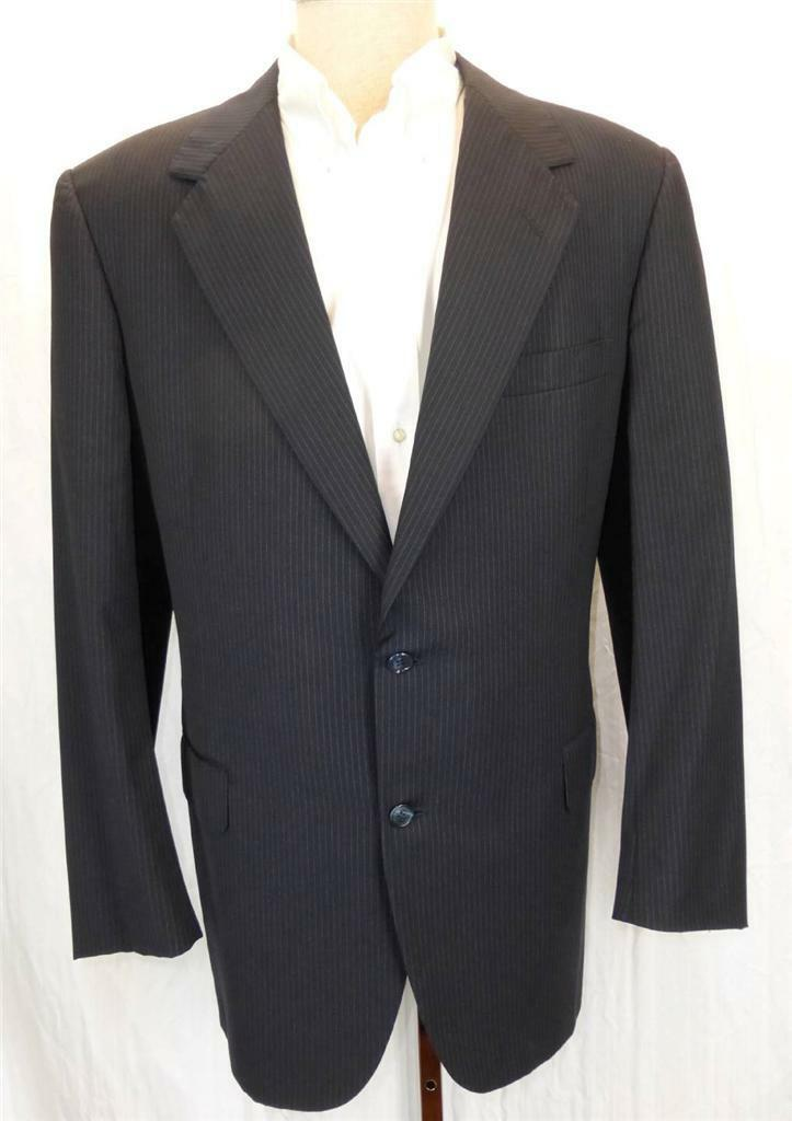 OXXFORD CLOTHES Saks 5th Dark Navy bluee Pinstripe Aristocrat Cache Suit 44