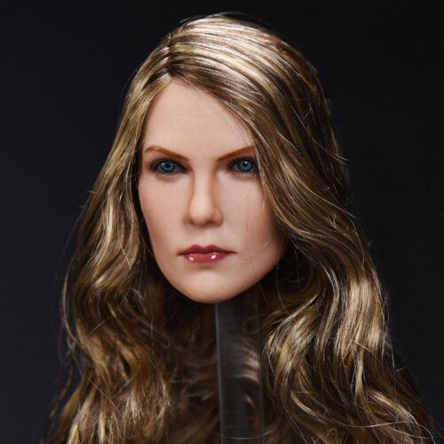 1/6 12 '' Weibliche braune Locken Charlize Theron Head Carving Modell F Action