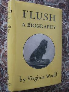 Flush, a Biography, 1933 First US Edition, Virginia Woolf ~ w/ Facsimile DJ