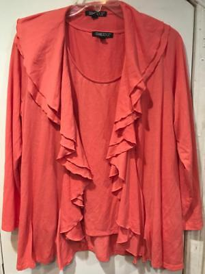 Women/'s open front long Cardigan jacket stretch Casual work cruise day plus 2X3X