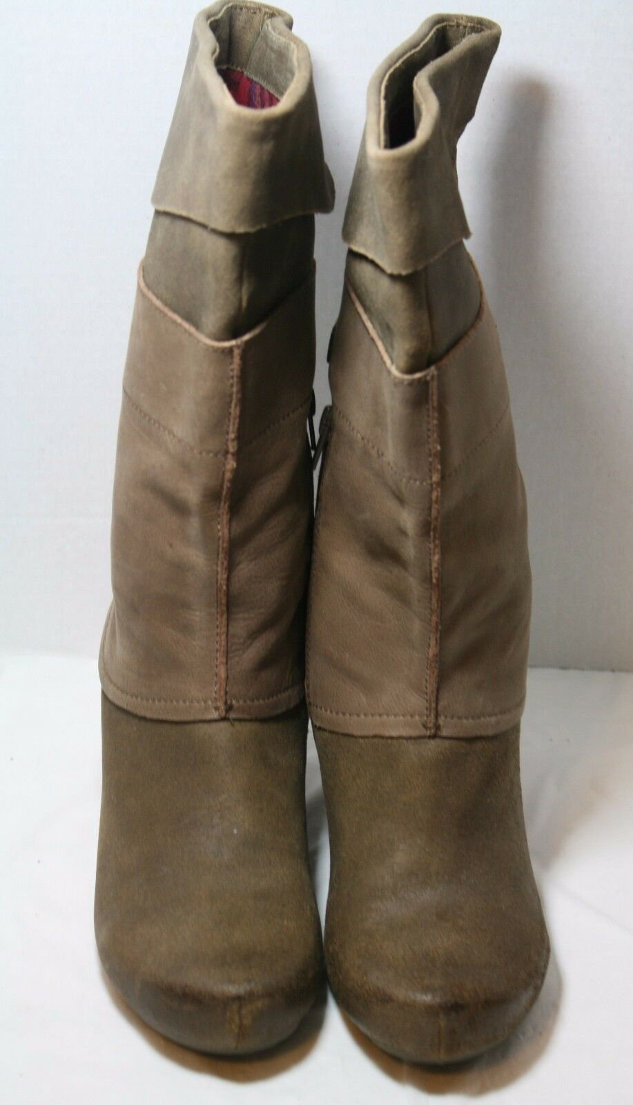 OTBT Schuhe ROSWELL Stiefel MUD LEATHER 8.5 MID 225 CALF ROUND TOE 225 MID 05f7ca