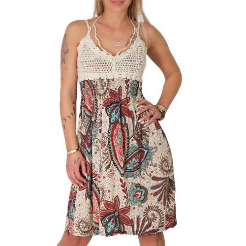 Sommer Träger Blumen Kleid gehäkelt Stickerei gestrickt Strandkleid Tuch Ranke