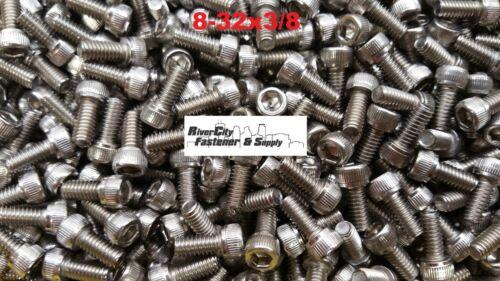 500 8-32x3//8 Socket Allen Head Cap Screw Stainless Steel #8 x 3//8