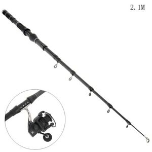 Fishing Rod Telescopic Spinning Saltwater Travel Reel Fish Portable Tackle Pole