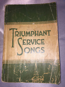 Triumphant-Service-Songs-Religious-All-Purpose-Book-Every-Dept-of-Church-Work