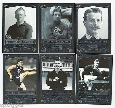 2014 Select 150 Years CARLTON Football Club - Leading Goalkickers (6 Cards)