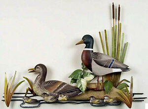 wall art mallard duck family wall sculpture lake house