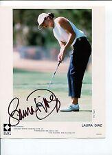 Laura Diaz Sexy LPGA Golf Solheim Cup Team Signed Autograph Photo