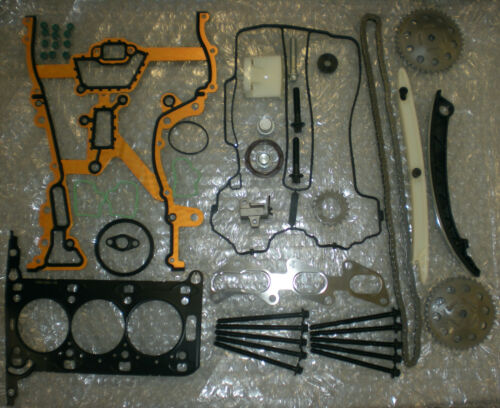 Vauxhall Z10XEP CORSA C Head Gasket Set Full Timing Chain Kit NEW Head Bolts