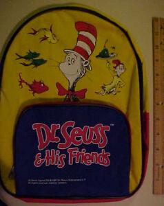 """Dr.  Seuss & Friends   Back Pack /Book Bag """"Pre K - Kindergarden"""""""