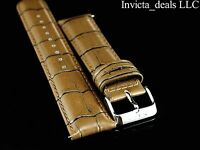 Invicta Lupah Genuine Leather 24mm Light Brown Replacement Strap Authentic
