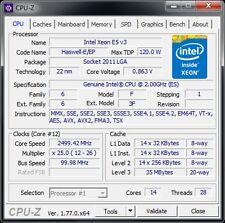 Intel Xeon e5 v3 14c/28t 2,3 - 2,6 GHz zócalo 2011-3 120w rendimiento: 6950 6900