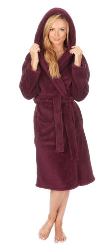 Donna Tinta Unita Invernale Con Cappuccio Snuggle abito//tunica ~ SMALL 4xl