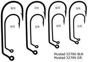 Mustad 32786 Jig Hook - 100 pieces - Choose size 2/0 3/0 4/0 5/0 6/0 7/0 8/0