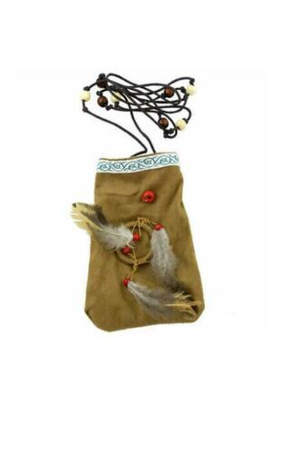 Indian Native Pouch Bag Fancy Dress Accessory Accessories Adults Wild West