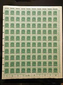 Germany-Weimar-Republic-1923-100-400-Mi-Nr-290-with-Han-MNH