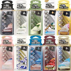 Yankee-Candle-Vent-Sticks-Car-Air-Freshener-4-Pack-Choose-From-All-20-Scents