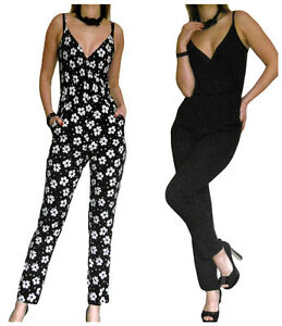 Rompers provide a polished and coordinated look in one, easy to wear piece. A classic jumpsuit is a chic alternative to typical women's dresses, so you can enjoy greater freedom of movement in fashion-forward cuts and styles. Try an all-black jumpsuit to show off a long and lean silhouette.