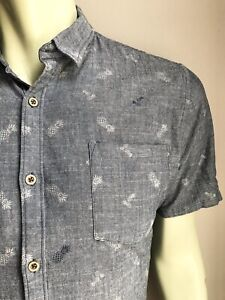 Micros Shirt, If-You-Like-Pina-Coladas on Chambray, L, Short Sleeved, EUC