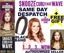 THE AURORA BAND BLACK SLEEP IN NIGHT ROLLER HAIR BAND CURLS DRAGONSDEN+FREE GIFT