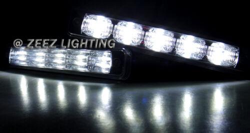 High Power Ultra Bright White LED Daytime Running Light Kit DRL Fog Lights C13