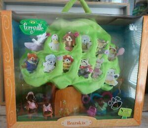 furryville bearskis famille ours picknick arbre sac transport Mattel Vintage