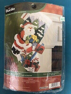 Christmas Tree New//Sealed Bucilla SANTA/'S MAILBOX Felt Stocking Kit # 86576