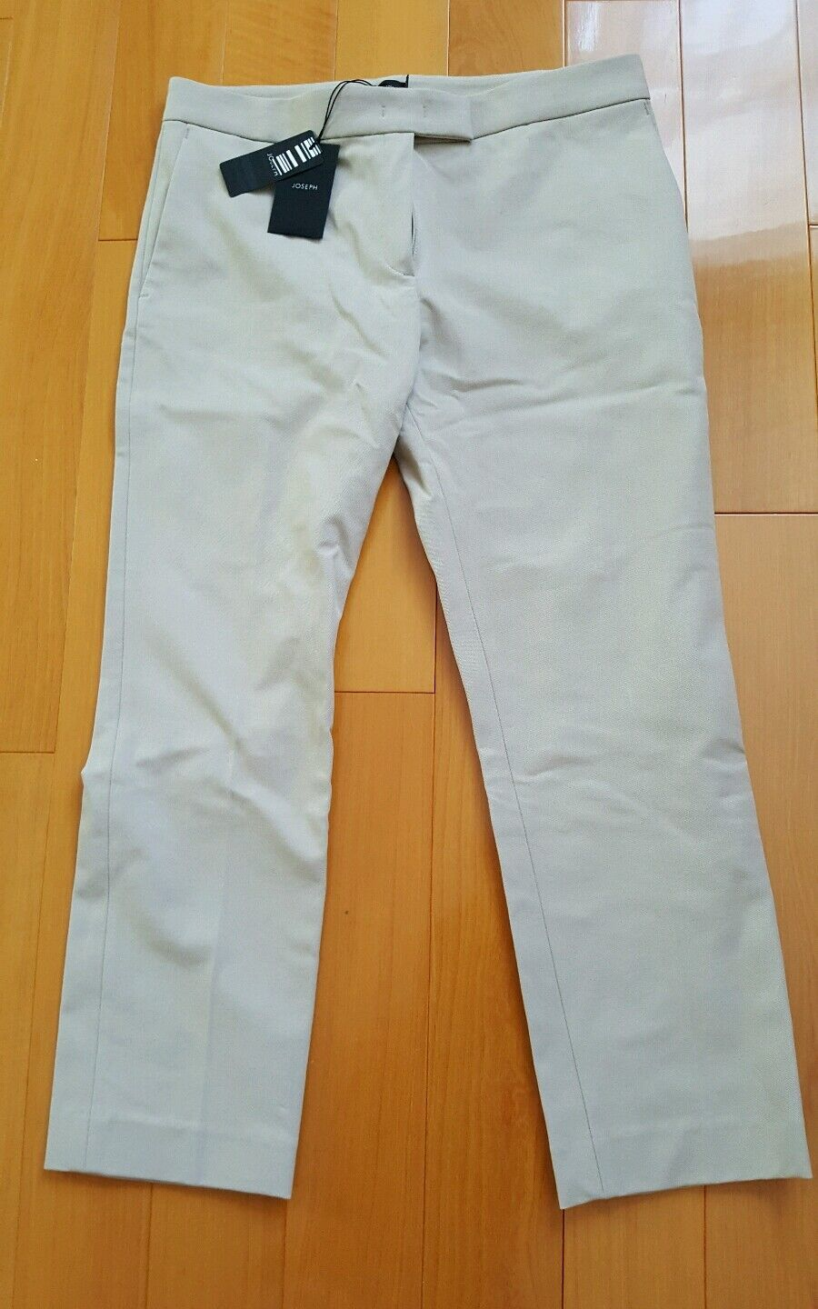 NWT Joseph Stone Cotton Skinny Leg New Queen Gabardine Stretch Pants Größe 38