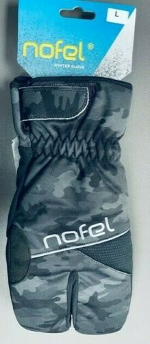 Details about  /Winter Cycling  Gloves Windproof Gel Padding Camo//Black Large 2 Pairs