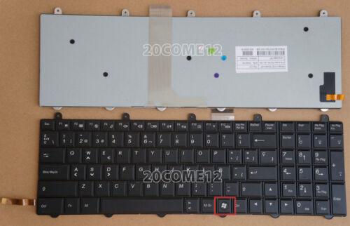 For Clevo P170SM P370EM P370EM3 Keyboard Backlit Spanish WIN7 KEY Bottom Right