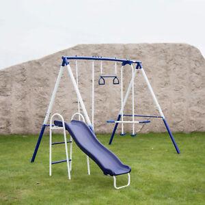 4 In 1 Toddler Swing Set Plastic Nursery Seat Outdoor Indoor Play