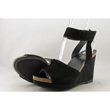 Franco Sarto Fairfax Women US 6.5 Black Wedge Sandal Blemish  11738