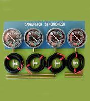 Four Motorcycle Carburetor Carb Synchronizer Vaccum Gauge Tool Sync Gauge Dials