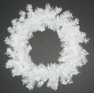 White Christmas Wreath Handmade Holiday Decoration Hanging Wreath 18'' Diameter