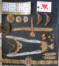 20 pieces Temple Jewelry stones South Indian Bridal Bharatanatyam Dance Set /.