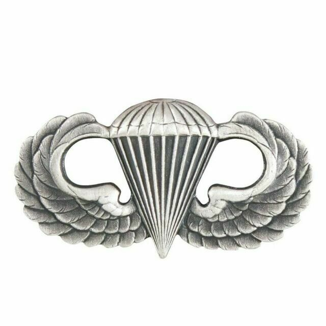 Parawing Insignia Pin USAF Airborne Clutch Back USA Made