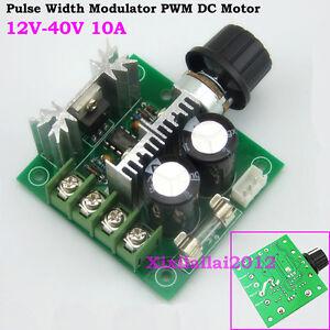 New 10a 12 40v Pulse Width Modulator Pwm Dc Motor Speed