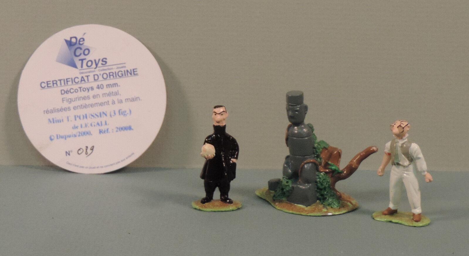 Theodore Poussin et Mr Novembre mini statuette metal Decotoys 20008 numerote