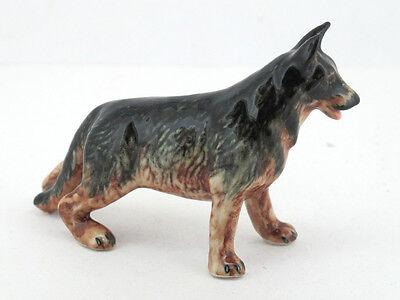 Mini Collectible Ceramic German Shepherd Dog Breed FIGURINE Hand Crafted