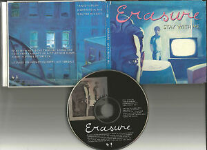 ERASURE-Stay-With-Me-3TRX-RARE-MIXES-amp-EDIT-amp-RADIO-PROMO-DJ-CD-Single-1995