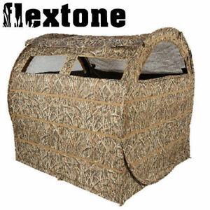 Flextone-Bale-Out-Hay-Bale-Ground-Blind-3-Man-60-034-x-60-034-x-60-034-Field-FLXAY030