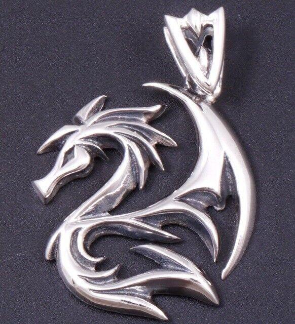 8 5g Dragon Tattoo Mortal Kombat 925 Sterling Solid Silver Mens