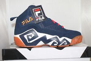 61b491e0397 Mens Fila MB Jamal Mashburn Retro Basketball Shoes Sneakers Navy ...